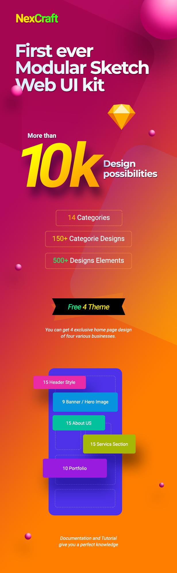 NexCraft | Modular Sketch Template and Web UI Kit - 1